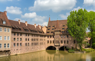 Heilig-Geist-Spital in Nuremberg, Bavaria, Germany