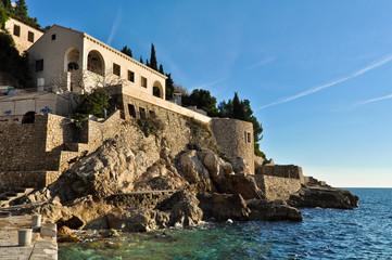Abandoned Hotel Belvedere in Dubrovnik, Croatia