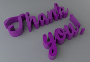 3D Text-Thank you