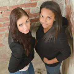 two young woman friends