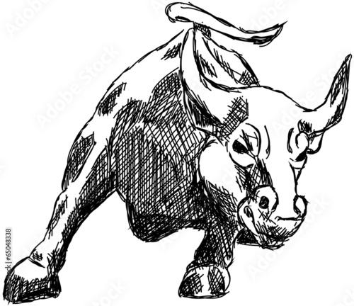 Bulle Börse Aktien Wallstreet Geld Zeichnung © artefacti