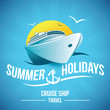 summer holidays , cruise ship travel - 65048547