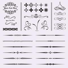 Calligraphic design elements