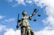 Leinwanddruck Bild - Justitia, a monument in Frankfurt, Germany