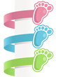 Baby Feet Labels