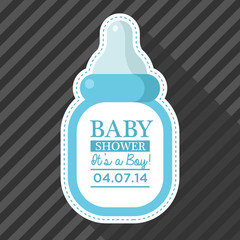 Blue Baby Bottle Card