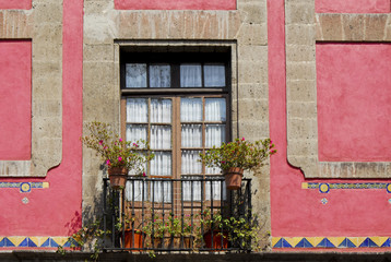 Colorful window, Mexico  City