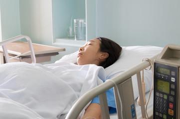 Patient on gurney