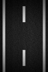 Road with white stripe