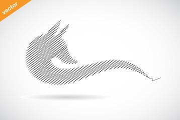 Vector design of fox