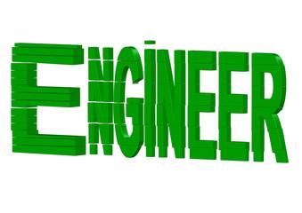 yeşil mühendis yazısı