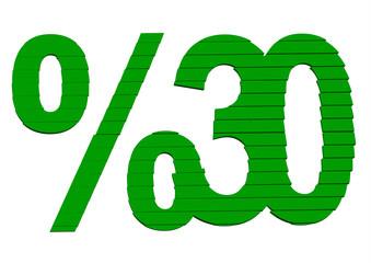 yeşil %30 indirim tasarımı
