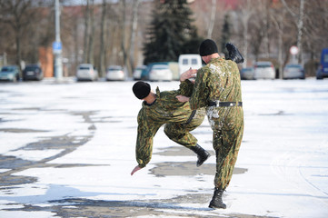 training of fighters of a special purpose