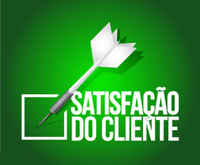 customer satisfaction selection. portuguese