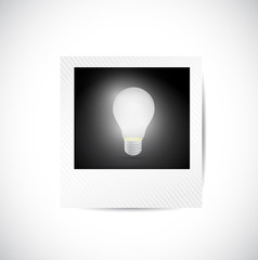 polaroid and light bulb illustration design