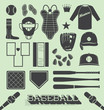 Vector Set: Baseball Objects and Icons