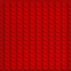 Abstract red hexagon background - vector illustration