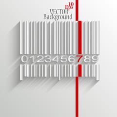 Barcode image on white background - vector illustration