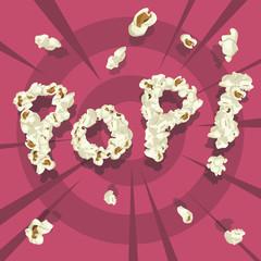 Pop! popcorn font style