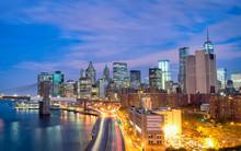 Fototapete - New York City at night