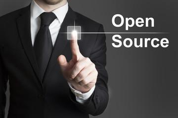 businessman touchscreen Open Source