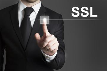 businessman touchscreen ssl