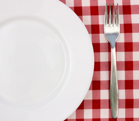 Fork and empty plate