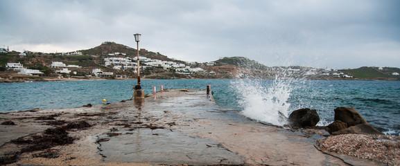 Cloudy seascape, Mikonos, Greece