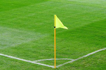 Corner flag on an soccer field