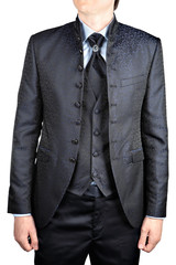 men's wedding suit with a vest