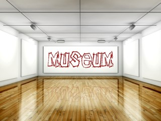 Museum concept, Art gallery interior