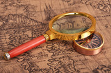 map and magnifying glass