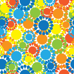 multicolored small flowers seamless pattern