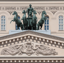 Quadriga. Bolshoi Theater in Moscow. Russia.