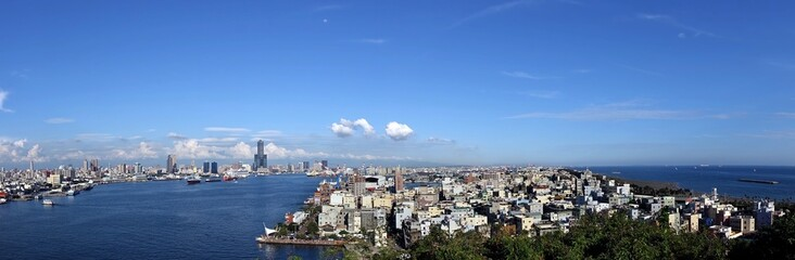 Panorama of Kaohsiung City and Port