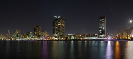 Tel Aviv night panorama
