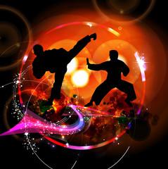 Karate. vector