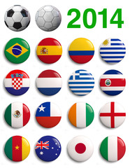 Brazil Football 2014 Countries Groups