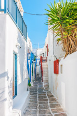 Narrow lane in Mykonos old town © tobago77