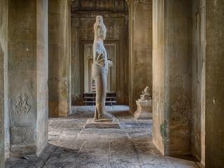 Statue of Vishnu at Angkor Wat, Siem Riep, Cambodia.