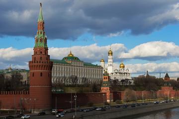 View to Moscow Kremlin from Sofiyskaya embankment, Russian Feder