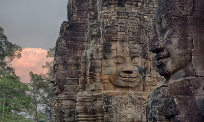 The amazing  Bayon temple, Siem Riep, Cambodia.