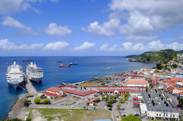St George's harbour in Grenada