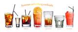 Fototapety Summer refreshing cocktails