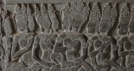 Beautiful mural at Angkor Wat