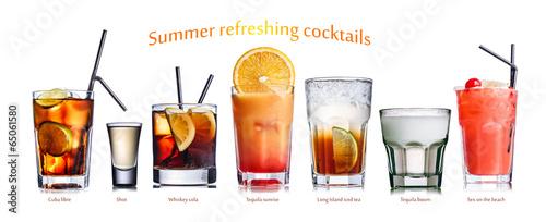 Summer refreshing cocktails - 65061580