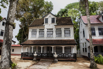 Old Dutch colonial house in Paramaribo, Surinam