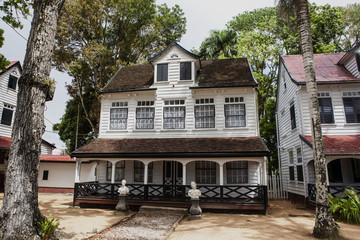 Old Dutch colonial house in Paramaribo, Surinam