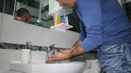 Man Washing Hands