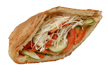Vegetarian doner kebap sandwitch